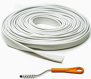 Kai Range Ltd Weiß Kederschienenschutzband 12M mit Reinigungsbürste für Kederschiene