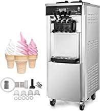 VEVOR 2200W Commercial Soft Ice Cream Machine 3 Flavors 5.3-7.4Gallons/H Auto Clean LED..