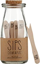 SB Design Studio F1408 SIPS Birchwood Compostable & Disposable Party Picks, 3.25-Inches, Yum