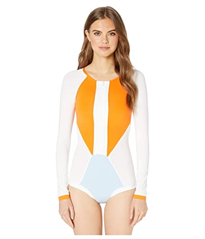 L*Space Mod One-Piece (White/River/Tangerine) Women