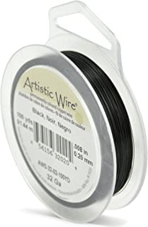Artistic Wire, 32 Gauge, Black Color, 100 yd (91.4 m) Craft Wire