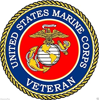 US Marine Corps Veteran Toolbox Sticker Laptop Sticker Hardhat Sticker