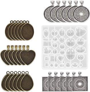 huyiko Grande Table D/écoration Moule Coaster Ensemble Multi-Standard Tasse Tapis en Silicone Moules Bricolage Cristal /Époxy UV Colle Moule