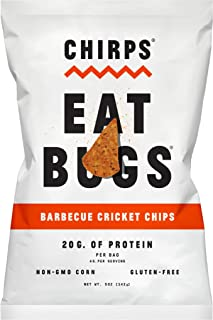 Chirps Cricket Flour Chips - 5oz. (Pack of 3) (BBQ)