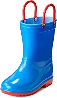 Toddler and Kids Rain Boots with Easy On Handles - Boys and Girls Colors and Designs – by Puddle Play