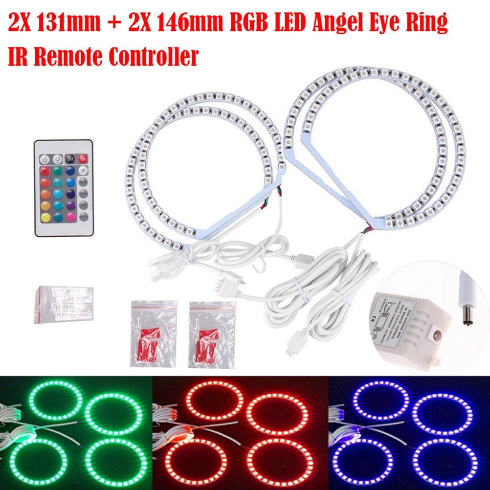 Multicolor RGB LED Halo Anillos Luz Botones Control de Bluetooth ...