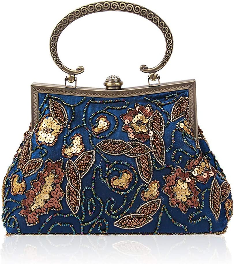 HttKse Evening Bags Vintage Beaded Max Popular shop is the lowest price challenge 49% OFF Handmade L Sequins Bag