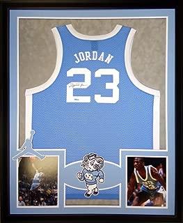 Michael Jordan North Carolina Tar Heels Autograph Signed Custom Framed Jersey Blue UDA Upper Deck Authenticated