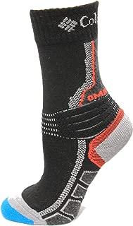 Columbia Omni Heat Space Dye Hiking Crew Socks 1 Pair, Black, Small