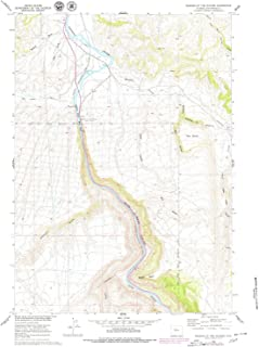 YellowMaps Wedding of The Waters WY topo map, 1:24000 Scale, 7.5 X 7.5 Minute, Historical, 1960, Updated 1980, 27 x 21.4 in