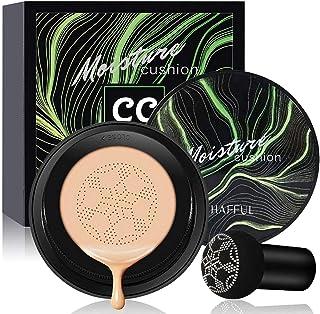 Air Cushion CC Cream Mushroom Head Foundation, SuperThinker Moisturizing BB Cream Makeup Long Lasting Matte Concealer (Natural)
