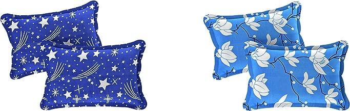 """Amrange Designer Printed 4 Piece Cotton Pillow Cover Set - 17"""" x 27"""", Multicolour"""