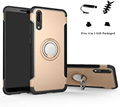 Huawei P20 case,Labanema Hybrid Dual Layer 360 Degree Rotation Ring Holder Kickstand Armor Slim Protective Cover for Huawei P20 - Gold