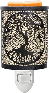EQUSUPRO Metal Plug-in Wax Melt Warmer Wax Electric Burner Melter Fragrance Warmer Night Light for Home Office Bedroom Living Room Gifts Decor (Giant Tree)