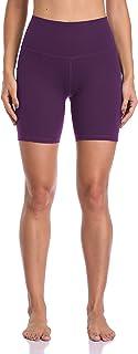 "Colorfulkoala Women's High Waisted Yoga Shorts with Pockets 6"" Inseam Workout Shorts"