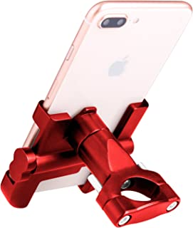 Elegant Choise Bike Phone Mount, Bicycle Holder Alloy Bike Phone Mount on Handlebar for iPhone X / 8/7 / 7 Plus, Samsung Galaxy S9 / S9 Plus / S8 / S8 Plus & Other Mobile Smartphone Devices