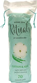 Cleanic Home Rituals Spa Rituals Cotton & Aloe Cosmetics Pads 70 Pieces