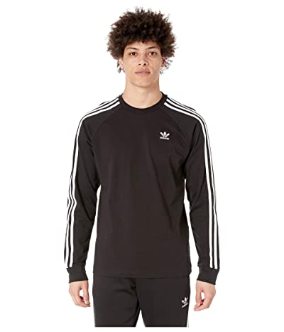 adidas Originals 3-Stripes Long Sleeve Tee (Black 2) Men