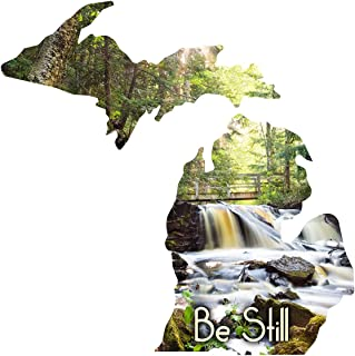 Next Innovations Metal Wall Art Michigan State Shape Be Still Waterfall