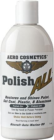 Aero Cosmetics Polish All Aircraft Grade Paint, Aluminum & Plastic Window Polish for Your Car Boat RV Motorcycle 8oz …: image