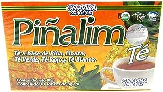 SmileMore Pinalim Tea/Te de Pinalim Mexican Version- Pineapple, Flax, Green Tea, White Tea - 30 Day Supply