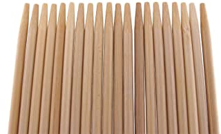 BambooMN Premium 15 Inch (1.25ft) Long 5mm Thick Safe Multipurpose Tornado Twist Potato Bamboo Skewers 100 Pieces Perfect ...