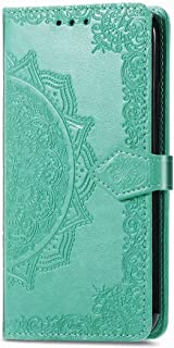 RanTuo Phone Case for vivo V20 2021, with Card Slots, Bracket, TPU + PU Leather, Flip Case Cover for vivo V20 2021.(Green)