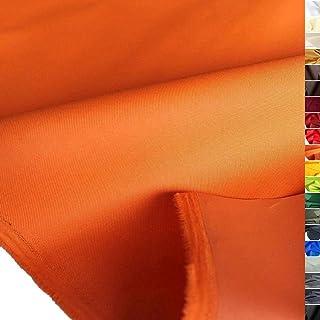 TOLKO wasserfester beschichteter Nylon Stoff | fester Segeltuch Planenstoff als Nylonplane für Aussenbereich | Reißfest und Langlebig | Meterware 150cm breit schwerer Outdoorstoff Orange