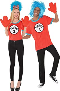 Costumes USA The Cat in the Hat Thing 1 and Thing 2 Accessory Kit for Adults, Large/Extra Large, Includes Gloves