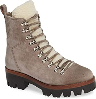 Jeffrey Campbell Culvert Faux Fur Lined Hiker Boot Taupe Suede