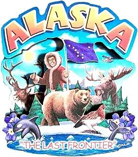 Alaska State Montage Wood Fridge Magnet 2