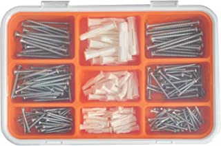 IKEA 001.692.49 Fixa 260-Piece Screw and Plug Set, steel