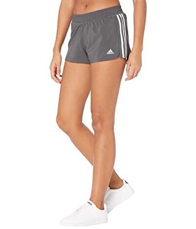 adidas Pacer 3-Stripes Woven Shorts (Grey/Black) Women