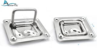 """MARINE CITY Stainless-Steel 3"""" ×2-1/4"""" Hatch Lift Handle/Ring Pull"""