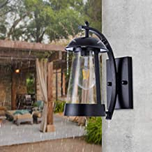 Wall Lights Outdoor Waterproof Vintage Wall Lamp Fixtures Black with Clear Glass Shade Modern Wall Sconce for Porch, Patio, Backyard, Farmhouse, Garage, Barn, Driveway