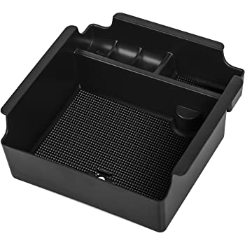Center Console Organizer Insert ABS Black Materials dividers Armrest Box Secondary Storage Box Fit For Toyota Tacoma truck models 2016-2018 4XBEAM