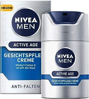 Nivea - Crema facial antiedad Nivea Men Active Age 1 unidad (1 x 50 ml) antiarrugas para hombres con creatina