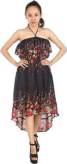 LOFBAZ Women's Casual Bohemian Spring Summer Maxi Dresses One Size