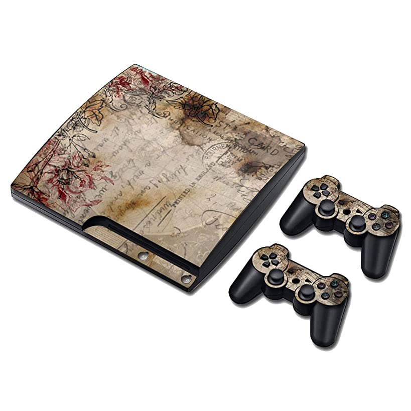 Decal skin cover Sticker vinyl pvc For Playstation 3 Slim console and controllers for PS3 slim,0204