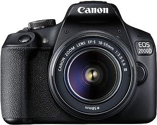 Canon EOS 2000D - Cámara (Sensor CMOS de 24.1 MP WiFi/NFC Modo Escena Inteligente automática vídeo Full HD) - Kit Cuerpo con EF 18-55mm y EF 75-300mm