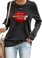 HIKARO Damen Langarmshirt T-Shirt Patchwork Rundhalsausschnitt Langarm Sweatshirts Casual Pullover Tops Shirts S-XXL