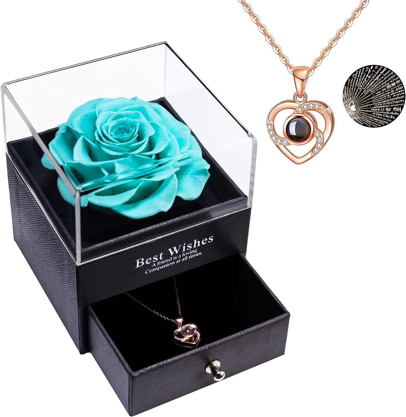 Preserved Real Rose Eternal with I Love 全国一律送料無料 Language 100 You Ne 当店限定販売