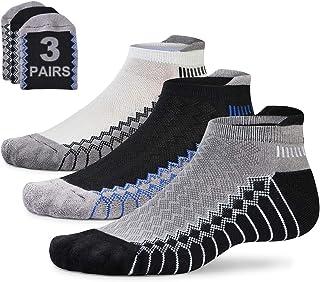 Mens Tab Cushioned Running Socks Low Cut Cushion Jogging Socks Ankle Short Performance Sports Athletic Anti Blister