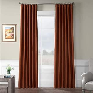 HPD HALF PRICE DRAPES BOCH-PL1903-84 Bellino Blackout Room Darkening Curtain 50 X 84,Warm Ember