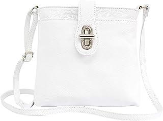AMBRA Moda Damen echt Ledertasche Handtasche Schultertasche Umhängtasche Citybag Girl Crossover GL007