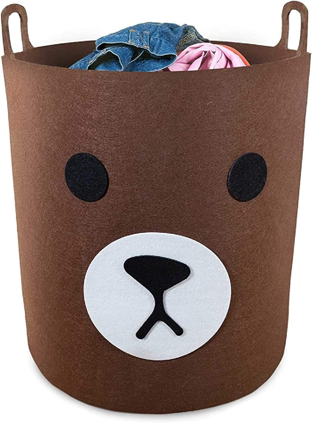 Baby Hamper For Laundry Storage and Toys , Baby Laundry Basket, Toy Baskets Storage Kids, Kids Laundry Hamper, Toy Storage Basket for Kids, Kids Hampers For Laundry, Nursery Hamper (Brown Bear)