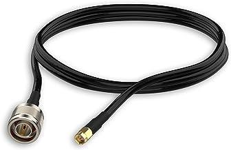 Als Zugentlastung geeignet CF630 2X 25cm RP-SMA-Male auf N-Male Pigtail Hochflexibel Halo-Son Antennenkabel-Router-Adapter 2X RP SMA Stecker auf Type-N Stecker 25cm