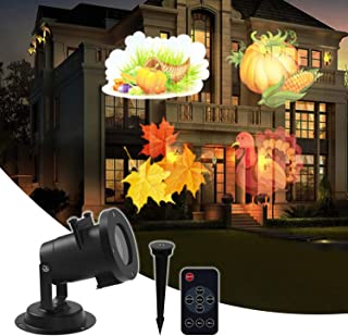 Birthday Projector Lamp 16 Slides Projection Light with Remote Control, Moving LED Patterns, Waterproof Decorative Outdoor&Indoor Lighting, Party