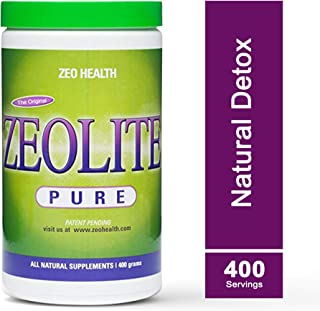ZEOLITE PURE | Full Body Detox Cleanse | Safe, Gentle, & Effective Energy Booster that Supports Gut Health, Mental Clarity, & Healthy Inflammation Response| Original Zeolite Powder (400 Servings)