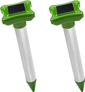 Gardigo Maulwurfvertreiber Solar 2er Set | Maulwurfschreck für den Garten |..